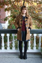 tawny Forever21 jacket - black Forever 21 boots - charcoal gray modcloth dress