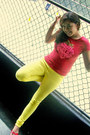 Yellow-michael-f-jeans-red-cleek-girl-t-shirt-red-contempo-shoes