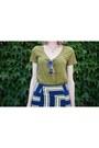 Navy-topshop-skirt