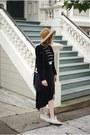 Camel-free-people-hat-black-blanknyc-jacket-black-gap-skirt