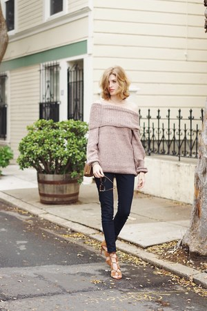 salmon asos sweater