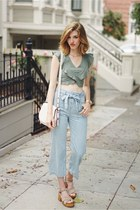 light blue Urban Outfitters pants - teal Kimchi Blue top
