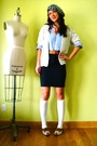 Gray-vintage-hat-white-jcrew-socks-black-american-apparel-skirt-blue-ralph