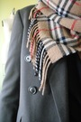 Orange-burberry-scarf-gray-vintage-blazer-black-american-apparel-suit-gray