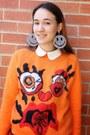 Black-dr-martens-boots-carrot-orange-meadham-kirchhoff-topshop-sweater