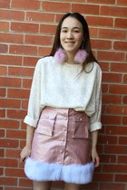 light pink meadham kirchhoff shoes - white lace vintage vintage from Ebay top