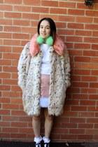light pink meadham kirchhoff X Topshop skirt - beige asos coat