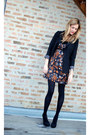 Tibi-dress-anthropologie-blazer-h-m-shirt-urban-outfitters-heels