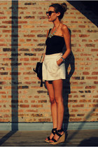 banana republic necklace - foley  corinna bag - Anthropologie shorts