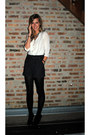 Zara-blouse-forever-21-shorts-forever-21-boots-gap-tights-banana-republi