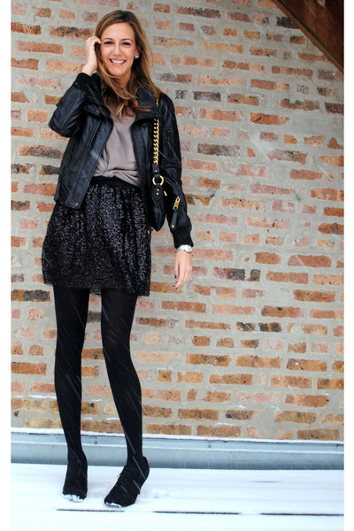 JCrew skirt - Forever 21 top - Zara jacket - Forever 21 boots - Marc Jacobs bag