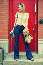 citizens of humanity jeans - JCrew blazer - Joes Jeans bag - Zara top - Dolce Vi
