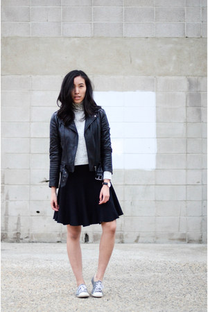 Aritzia jacket - whistles sweater - BCBG skirt - Converse sneakers