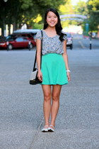 aquamarine circle TJ Maxx skirt - black stripes Ross bag