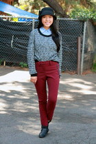 oxblood preppy