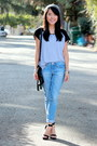 Black-ross-bag-light-blue-boyfriend-jeans-target-jeans