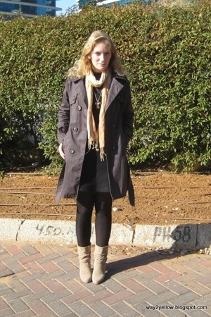 petit A - dress - random brand - H&M tights - from the market scarf - from the m