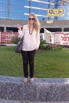 vintage blouse - Zara pants - H&M purse - random brand - from the market - H&M s