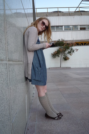 Zara - pull&bear dress - - - H&M sunglasses -