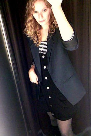 H&M shirt - Zara dress - vintage - H&M tights - random brand - I made it necklac