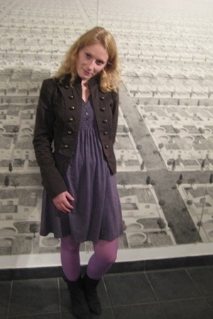 Zara jacket - pull&bear dress - H&M tights - local brand