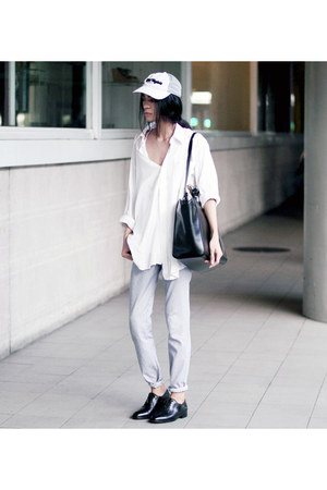 Pierre Cardin shirt - Mark R shoes - Zara bag - mint pants