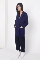 navy Front Row Shop blazer - high waisted Front Row Shop pants