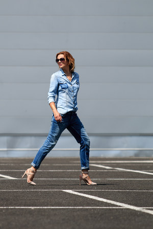 Zara jeans - SOliver shirt - Stradivarius sandals