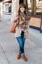 burnt orange modcloth scarf - tawny Forever 21 boots