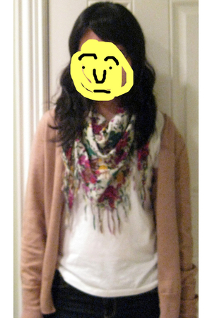 banana republic sweater - Forever 21 scarf - Ralph Lauren shirt - abercrombie &