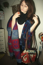 Black-forever-21-scarf-blue-forever-21-coat-white-urban-outfitters-top-ora