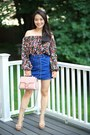 Navy-button-up-almost-famous-skirt-maroon-zara-top