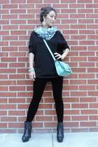 black oversized knit Express top - black asos boots