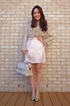 light pink bow pencil Sincerely Sweet Boutique skirt - tan investment Gucci bag