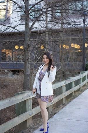 white TWEED JACKET jacket