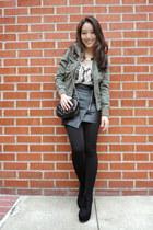black Chicwish skirt - black suede platform deb boots