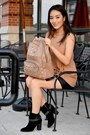 Black-distressed-nine-west-boots-tan-emma-chloe-bag