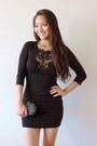 Black-deb-dress-black-lace-clutch-mimi-boutique-bag