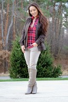 army green military Left on Houston jacket - red Aeropostale top