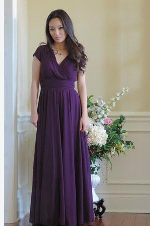 deep purple formal OASAP dress