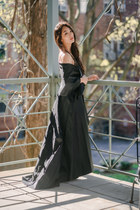 black high low Adriana Papell skirt
