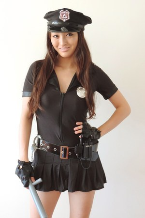 black police costume AmiClubWear dress