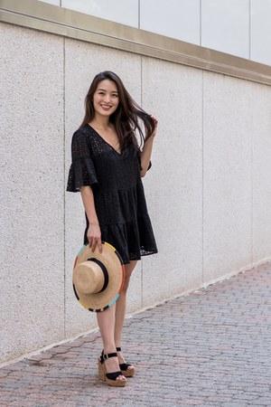 black eyelet mini Red Dress Boutique dress