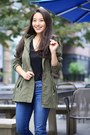 Black-ankle-time-and-tru-boots-army-green-anorak-time-and-tru-jacket