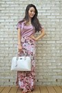 Tan-patent-pauls-boutique-bag-bubble-gum-bcbg-skirt