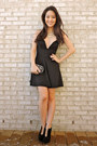 Black-cut-out-ankle-deb-boots-black-deep-v-lbd-haute-miss-dress