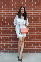 fitted H&M blazer - Charlotte Russe dress - crossbody coach bag