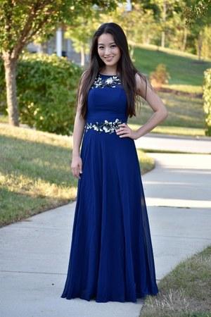 navy evening Ever Pretty dress