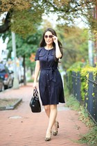 black suede Laila Jayde dress - black Handbag Heaven bag
