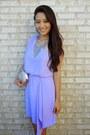 Violet-charlotte-russe-dress-silver-sparkly-clutch-lily-rain-bag
